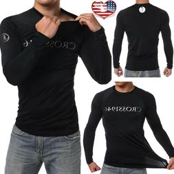 Aquatic Mens UV Protection Long Sleeve Rash Guard Shirt Top