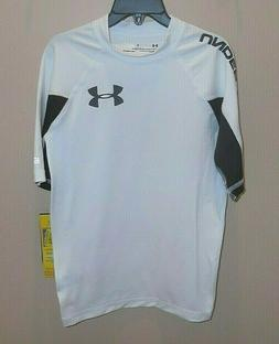 Under Armour Boys Medium Rash Guard Swim Shirt Top UPF 50+ W