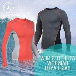 Coovy Women Rash guard Sun Block Long Sleeve Swim Beach Shir
