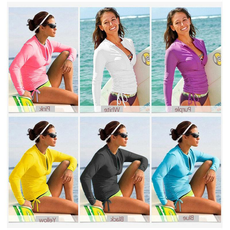 SBART Women Long Sleeve UV Sun Protector Rash Guard Wetsuit