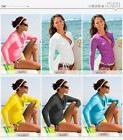 SBART Long Sleeve Rashguard Women Lycra Surf Shirts Swim Top