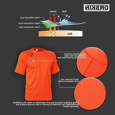 DRSKIN Cool Dry Sleeve Sports T