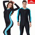 SBART Men Women 1 Piece Long Sleeve Lycra Diving Wetsuit Swi