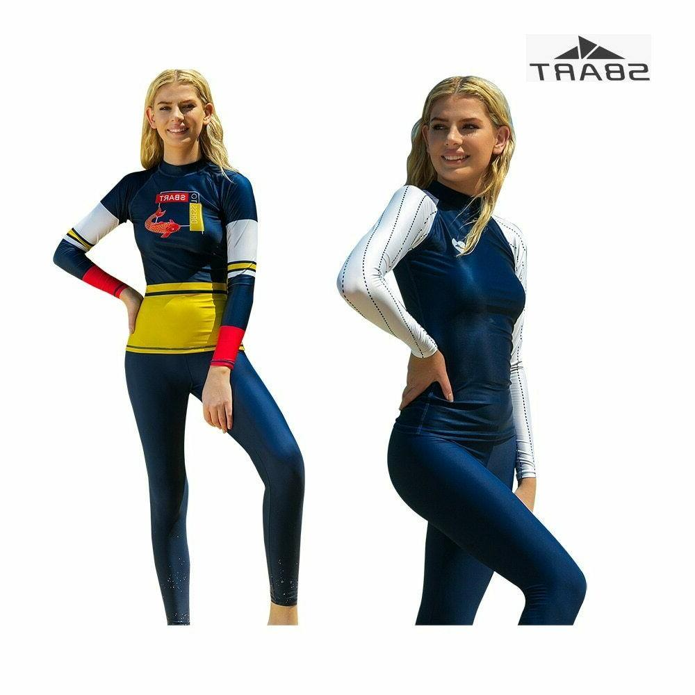 SBART One-piece Diving Surfing Women Rash Guard Slim Swimwea