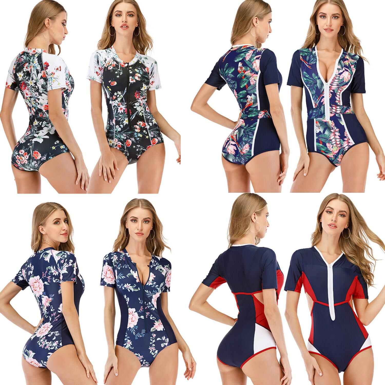 Women Long Sleeve One-Piece Protection Surfing