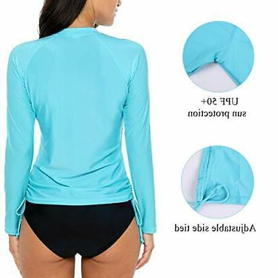 ATTRACO Women's Rashguard Sun Swimsuit Top