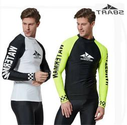 SBART Long Sleeve Rash Guard Men Shirt Swimwear Surfing Top