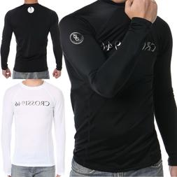 Men Coovy Long Sleeve Rash Guard Surf Swim Shirt SPF40 Prote