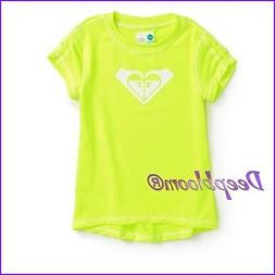 ROXY TOP SHIRT GIRLS SWIM SUN RASH GUARD 2T 3T YELLOW UV PRO