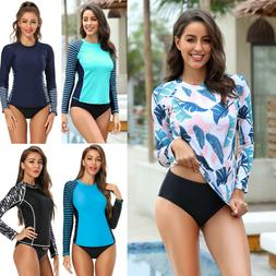 Women's Long Sleeve Rash Guard UPF 50+ Sun Protection Surf S