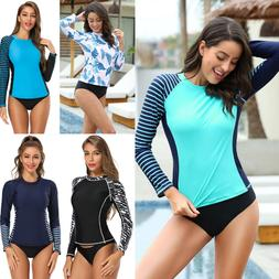 Women's Long Sleeve Rash Guard UV UPF 50+ Sun Protection Swi