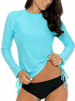women s rashguard swimwear sun shirts long