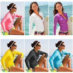 Lynddora Women's UV Sun Protection Long Sleeve Rash Guard We