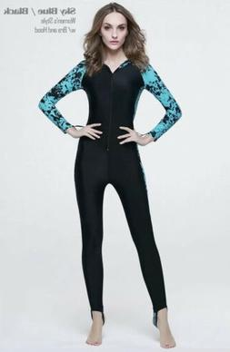 Sbart Womens Diving Skin Anti-UV Rash Guard Long Snorkeling