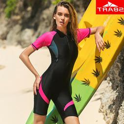 SBART  Rash Guard Women One-Piece Swimsuit Women Swimwear Su